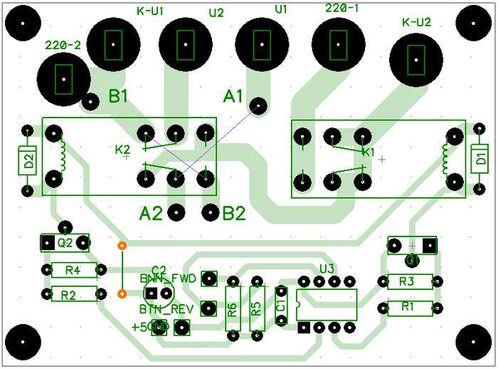 Печатная плата контроллера вид со стороны деталей
