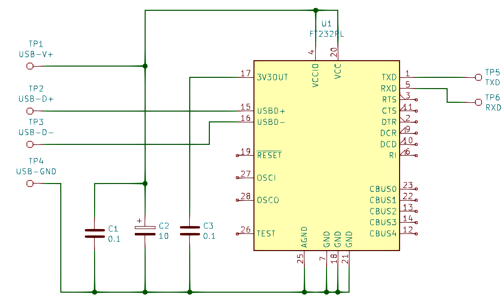 FT232 USB to UART adapter